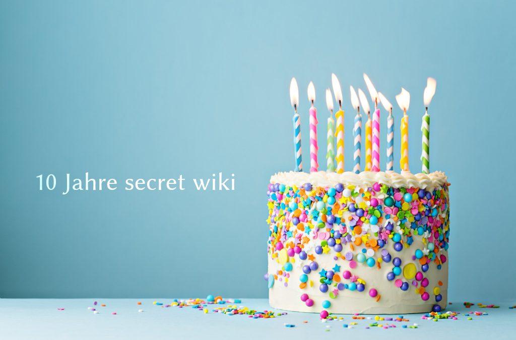 10 Jahre Secret Wiki – Was uns in dieser Zeit bewegt hat (mit großem Gewinnspiel 🎁)